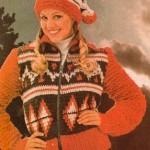 Norsky háčkovaná vesta a čapka