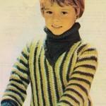 Chlapecký pulovr ze zbytků