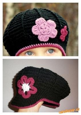 černá bekovka-baret