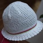 Letní klobouček s vějířkovou krempou