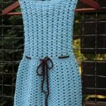 Dětské šaty z příze Bamboo Fine
