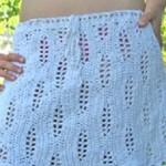 Bílá boková sukně