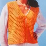 Oranžová vesta Mama mia