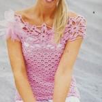 Růžový letní top Avola