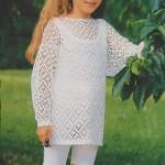 Bílý krajkový pulovr