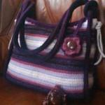 Modrofialová taška s kvítkem