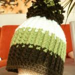 Zimní čepice s pružícím vzorkem