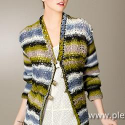 Ručně pletený oděv z příze značky Schoeller+Stahl