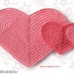 Srdíčko – podšálek či podložka