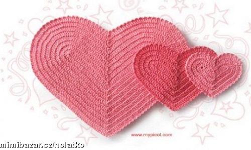 srdcová podložka