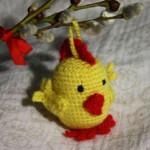 Velikonoční kuřátko – chrastítko