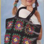Letní pestrá taška a čapka