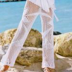 Letní bílé kalhoty