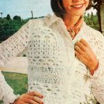 Dámská vesta se třemi krajkovými vzory