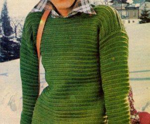 Pánský zelený pulovr