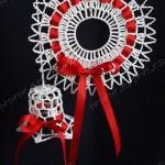 Háčkované zvonečky a další vánoční dekorace