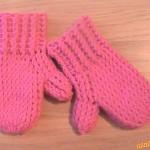 Růžové dětské rukavičky