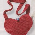 Taštička ve tvaru srdce