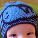 Velryba – háčkovaná aplikace nejen na čepici