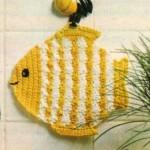 Kuchyňská chňapka rybka