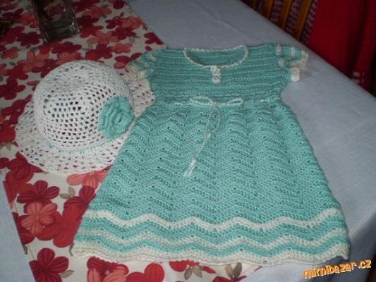 b2ef055f919f Dětské háčkované šaty. Návod na háčkované šatičky pro dětskou velikost (v  popisu není uvedena). Model je háčkovaný přízí Elian Nicky (zn. VSV) háčkem  č.