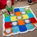 Dětská deka s opičkami