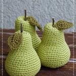Ovocná dekorace – háčkované hruštičky