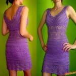 Háčkované šaty pro mamky