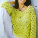 Světle zelený pulovr