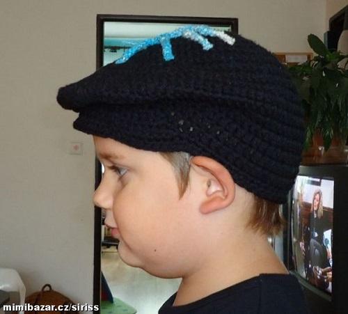 b162b98ba08 Háčkovaná čepice s kšiltem. Návod na háčkovanou čepici pro vlastní  velikost. Název příze