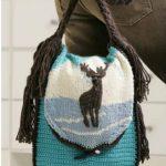 Zimní taška s jelenem