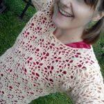 Broskvový pulovr