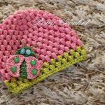 Detská čiapka Puff stitch