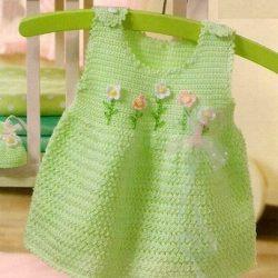 315ac943ecf4 Zelené šatičky s kytičkami · Pro děti