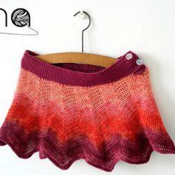 9ef596a078f0 Háčkovaná sukňa – crochet skirt · Pro děti