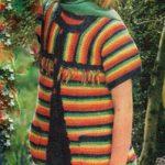 Dětská pruhovaná vesta s krátkými rukávy