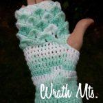 Háčkované rukavice – krokodýlí vzor