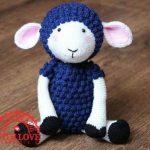 Háčkovná hračka ovečka