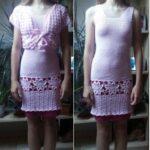 Růžové šaty s bolérkem