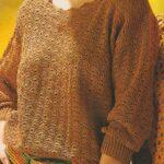 Hnědý dámský pulovr