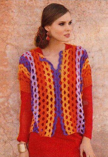 Letní pončo-pulovr